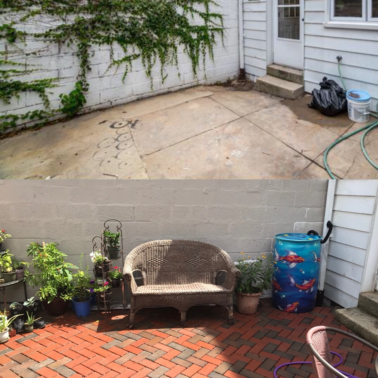 Before and After with Permeable Pavers